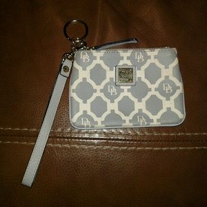 Dooney & Bourke Wristlet with Key Chain in New con